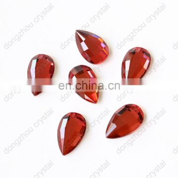 DZ-1713 decorative flat cut crystal glass rhinestones for clothing