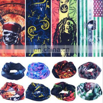 Magic seamless Multifunctional custom printed headwear Mask bandana