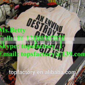 Cheap Fashion 2014 bales of mixed used clothing for sale
