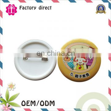 Cheap blank tinplate button pins material wholesale custom metal badge buttons
