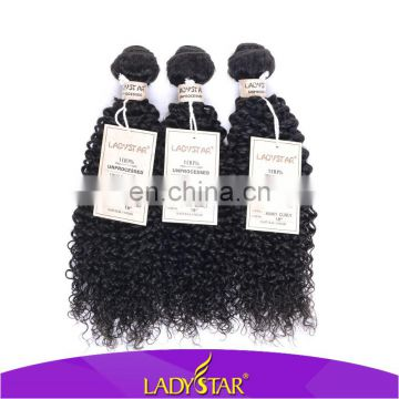 Full cuticle kinky curl hair extension for black ladies/kinky wave human hair weave