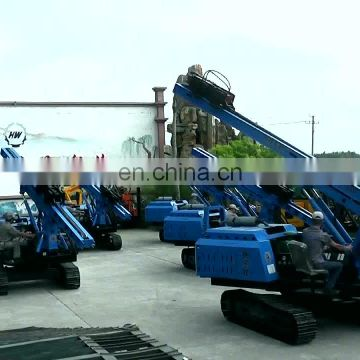 HENGWANG Hammer pile driver solar Piling machine for solar project