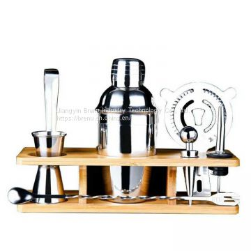 Factory Supplying Cocktail Shaker Set Bartender Brewing Accessories Kit