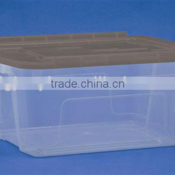 clear plastic storage box with lids supplier