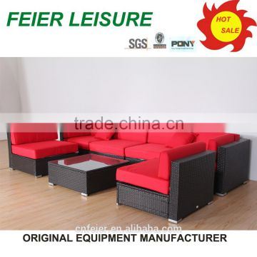 morden style wood plastic composite outdoor furniture sofa set
