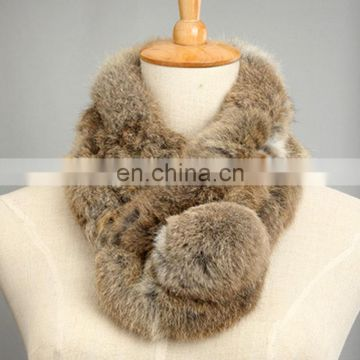 Top grade rabbit fur collar scarf for women ladies winter
