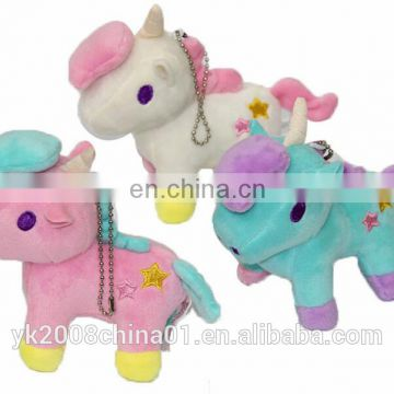 Custom mini stuffed monster plush unicorn keychain with wings wholesale