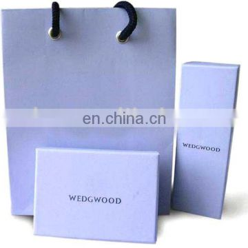 noble color luxury series paper bags with cord cotton handle