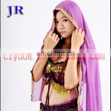 Arabic chiffon women Belly dance head veil P-9013#