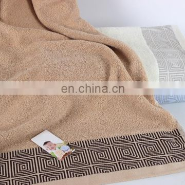 cheap 100% cotton thicken grid and striped bath towel