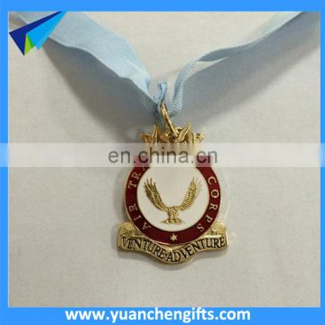 Cheap custom metal medal ribbon medalion medal