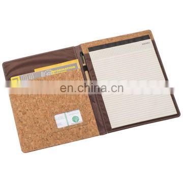 promotion office cork PU leather journal organizer notebook NOTEBO920