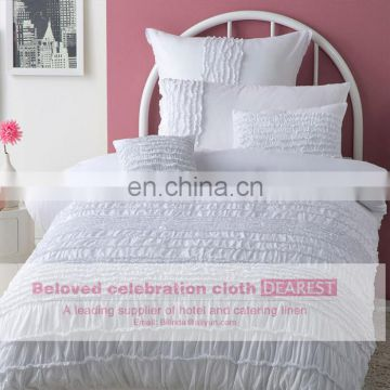 wholesale best selling products 100%soft cotton White Hotel Duvet cover/ bedding set /bed sheet