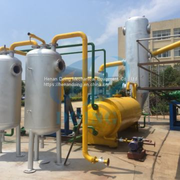 Doing 6th generation new fully continuous waste tire pyrolysis plant to liquid fuel