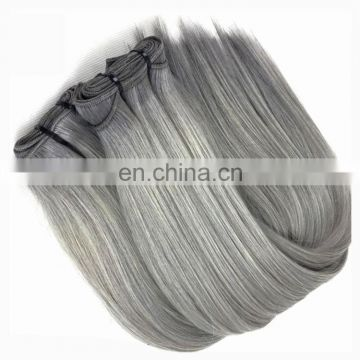 2017 new arrival Wholesale cheap 100% brazilian grey human hair weaving