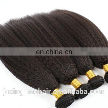 high quality full end virgin mongolian kinky straight yaki hair weave