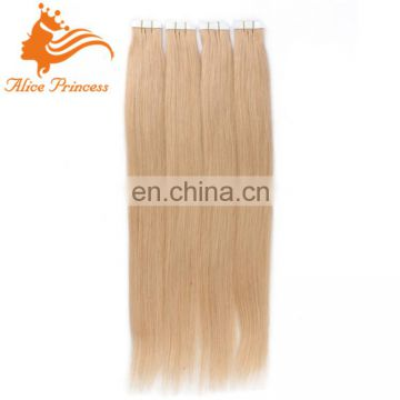 color 22# virgin brazilian tape human hair extensions