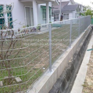 PVC coated prefabricated steel rectangular wire mesh residential fence New Zealand