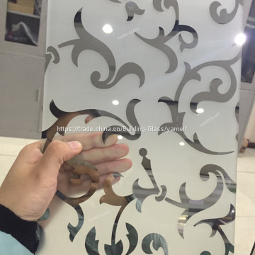 Decorative Titanium Frosted Bathroom Window Glass Types Of Titanium
