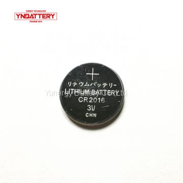 Coin battery CR2016 3v LiMnO2 lithium ion no-rechargeable button battery 75mAh