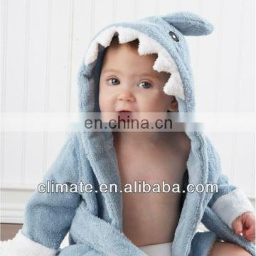 Hot!Retail boy girl Animal Baby bathrobe/baby hooded bath towel/kids bath terry children infant bathing
