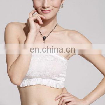 lady comfortable strapless bra tube top