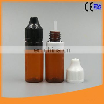 Top sale !10ml pet dropper bottle eliquid with double twist cap for e-cigars liquids