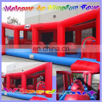 2014 Inflatable Wipe Out Challenge /Ripsaw Ride ball obstacle