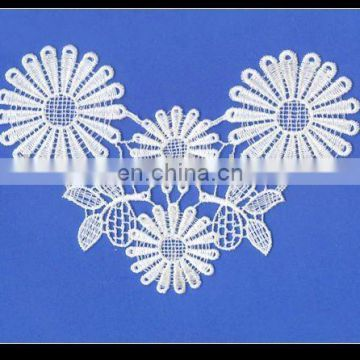 100% cotton water soluble flower lace