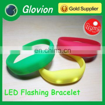 Glovion led flashing bracelet candy color bracelet led sports bracelet