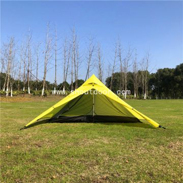 Two Person Tent Pyramid Ultralight Waterproof Double Layers Four Season Camping Tents
