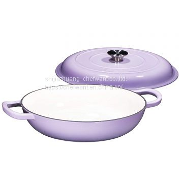 Enameled Cast iron pealla pan Cast iron round casserole