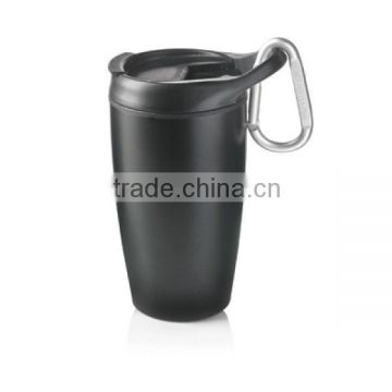 400ml portable sport travel stainless steel thermal vacuum mug with handle