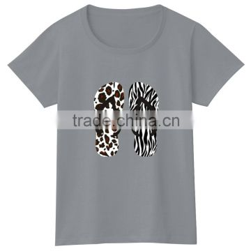 Superfine Cotton Bulk Pure Color Blank Plain Logo Heat Press Tshirt Women Round Neck