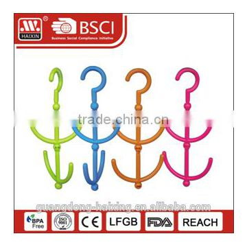 ashion colorful wholesale plastic hanger for clothes