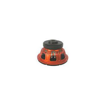 Orange Car Sound Speakers , Heavy - Duty Metal Frame Audio Car Speakers