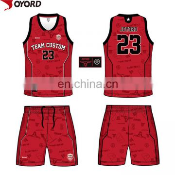cc046b3cfc94 ... china custom sublimation color blue red yellow basketball jersey  uniforms design ...