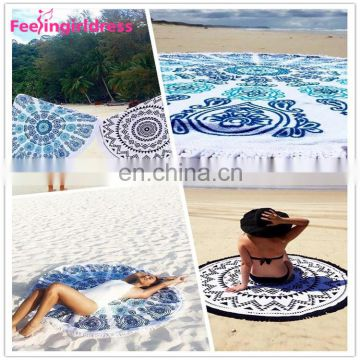 Wholesale Round Beach Mandala Tapestry Wall Hanging Custom Tapestry