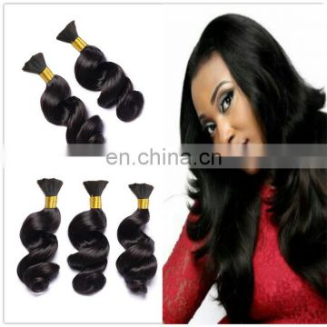 Brazilian loose wave hair in mozambique Ali brazilian bulk human hair extensions natural color virgin brazilian hair weave