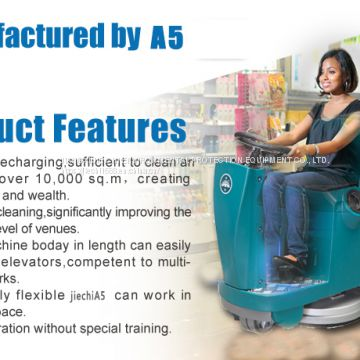 A5Micro Auto Ride On Floor Scrubber