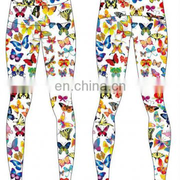 3D printing wholesale colorful custom printed leggings wear womens yoga pants fitness