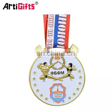 Custom Cheap Bodybuilding Sports Golden Awards Medal Trophy