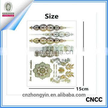 Waterproof Flash gold body temporary tattoo sticker