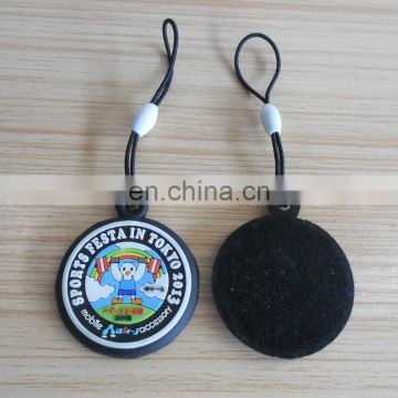 3D Rubber Charm Cellphone Neck Strap