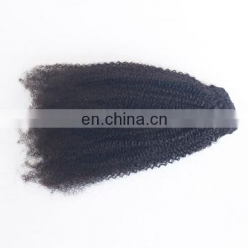 Top quality 8a grade virgin indian hair unprocessed 4c afro kinky curly human hair