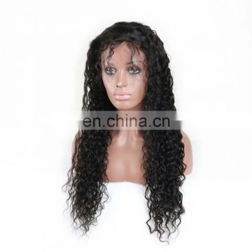 Youth Beauty Hair 2017 Best saling brazilian 9A virgin human hair lace front wig in natural curly water wave cuticle aligned
