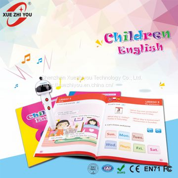 Arabic English French Language Learning Talking Reading Pen Audio Books for Kids