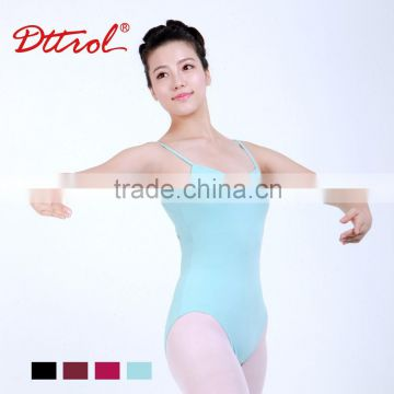 D031012 Lycra black cross-back camisole sexy dance leotards and gymnastic wear for women