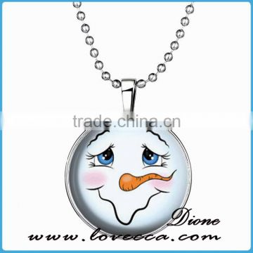 Fashion Eco-friendly Beads Snowman Jewels Christmas Lights Necklace
