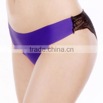 YunMengNi Ladies new arrival candy colors and transparent lace hipster women Ice silk seamless panty